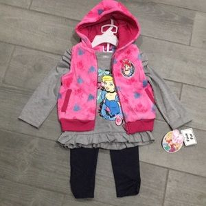 Disney Cinderella 3pc. Outfit NWT 2T